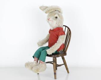 Vintage Schuco Rabbit Bigo Bello Mohair 1950's
