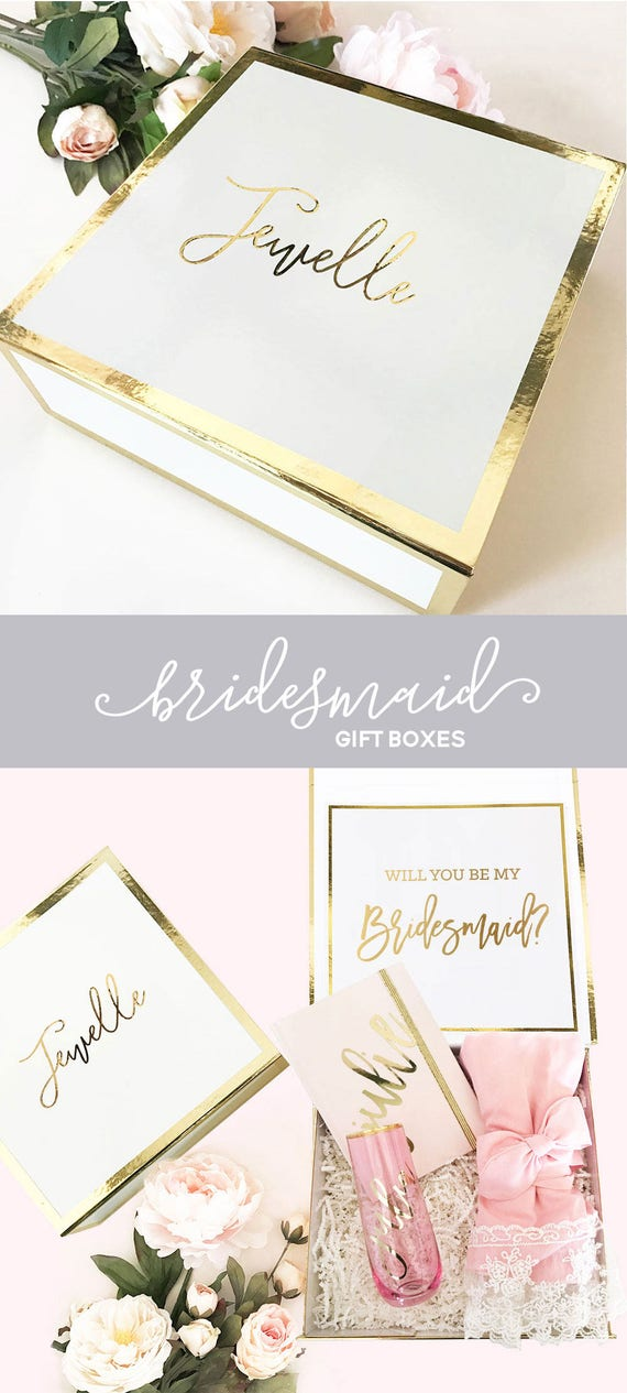 bridesmaid box gifts bride gift box bridal party box diy