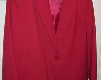 Blazer 4, Talbot's Red Light Weight Wool Blazer. Never Worn see details