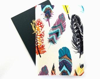 Tribal passport cover, Feathers passport holder, Boho passport wallet, Girl travel wallet, Woman traveler gift, Passport covers for her