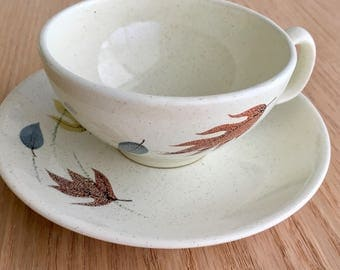 Autumn by Franciscan flat cup and saucer 1955-1966