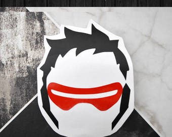 Overwatch - Soldier 76 Vinyl Decal Sticker | One or Two Color Option