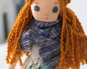 Redhead Rag Doll with Wardrobe