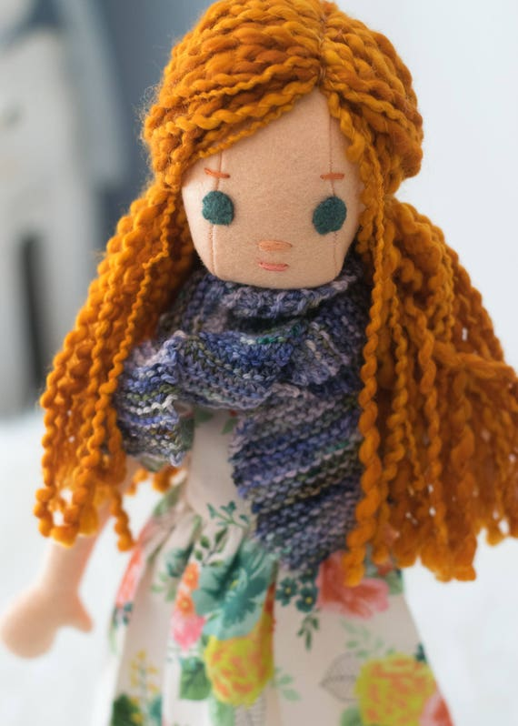 Redhead Rag Doll with Wardrobe