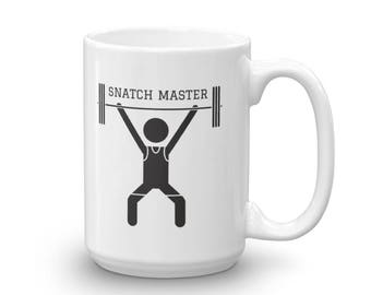 Snatch Master Funny Coffee Mug - Weightlifting Gift - Crossfit Gift - Fitness Gift