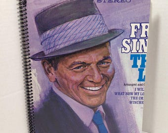 Frank Sinatra That's Life Album Cover Notebook Handmade Spiral Journal