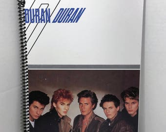Duran Duran Album Cover Notebook Spiral Journal Handmade
