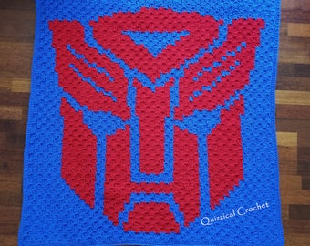 Transformers Autobots C2C Child Blanket Pattern - Optimus Prime
