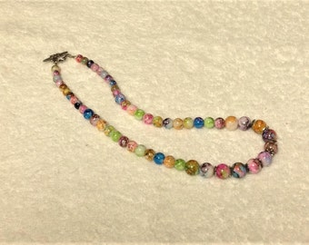 Rainbow Imperial Jasper Necklace