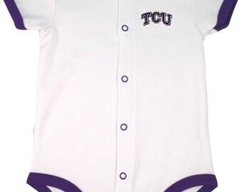 Texas Christian TCU Baby Romper Bodysuit