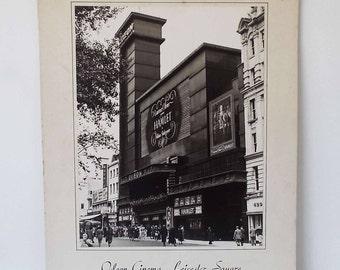 Original 1940's Original Photograph Odeon Cinema Leicester Square London Art Deco Rodney Shepheard