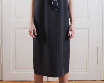 Leather detail Oversized Blouse /Black modern Tunic/Black tunic/ plus size tunic