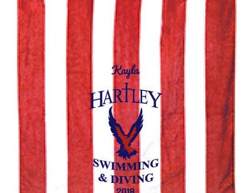 C3060 TSC Bishop Hartley Stripe Towel First Name Inluded