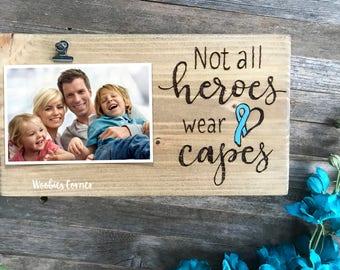 Inspirational frame, Cancer survivor gift, Custom wood sign, Cancer awareness gift, Survivor gift, Custom picture frame, Personalized frame
