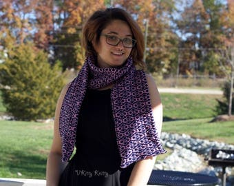 Double thick geometric scarf