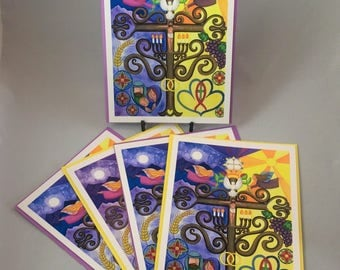 "5 Blank cards 5"" X 7"" with envelopes - ""A Sacramental Marriage"""