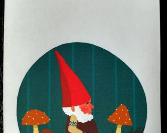 Happy gnome bookplates (set of 12)