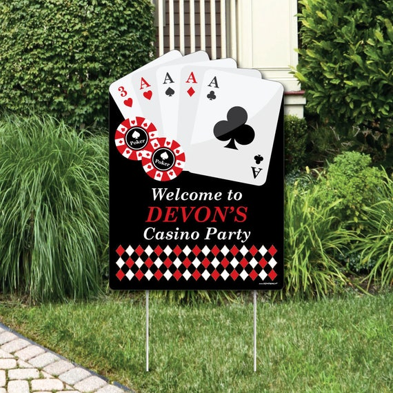 las vegas welcome sign casino party outdoor lawn decorations