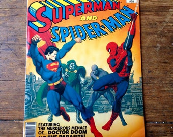 Marvel Treasury Edition (Superman and Spider-Man); Vol 1, 28, Bronze Age Comic Book. FN+. 1981. Marvel and DC Comics