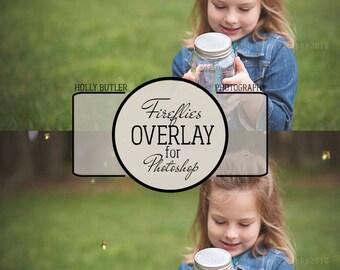 Fireflies Overlay | Photoshop only