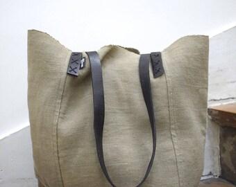 Sac cabas, sac fourre-tout, sac à main, sac de cours, sac en coton, sac tissé, tote bag, teintures naturelles à argile et tissage artisanal
