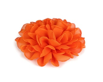 Orange Dog Collar Flower, Orange Collar Flower Attachment, Orange Collar Flower Add On, Orange Collar Flower Accessory, Dog Collar Flower