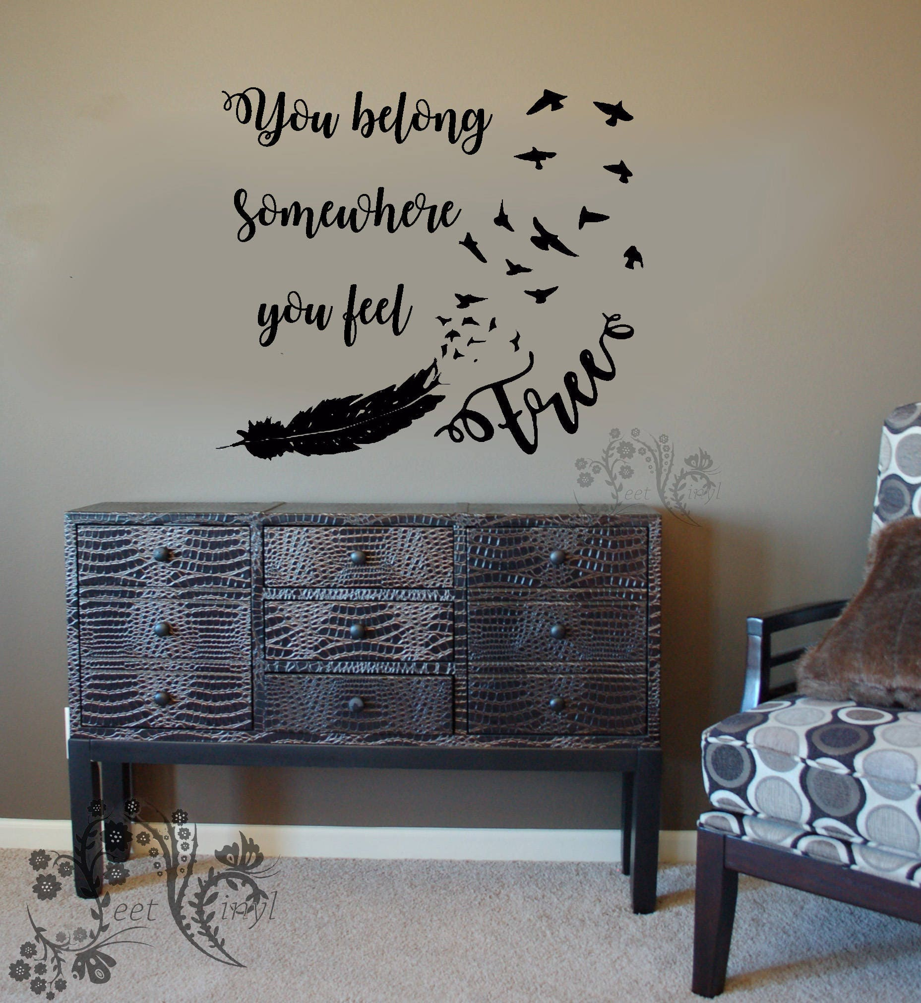 You belong somewhere you feel free tom petty wall decal zoom amipublicfo Image collections