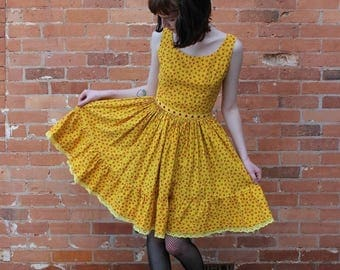 Jonathan Logan Vintage 1950s Cotton Sun Dress
