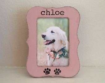 Personalized dog picture frame, pet frame, pet memorial picture frame, pet loss, loss of dog, dog memory, pet lover - Flowers in December