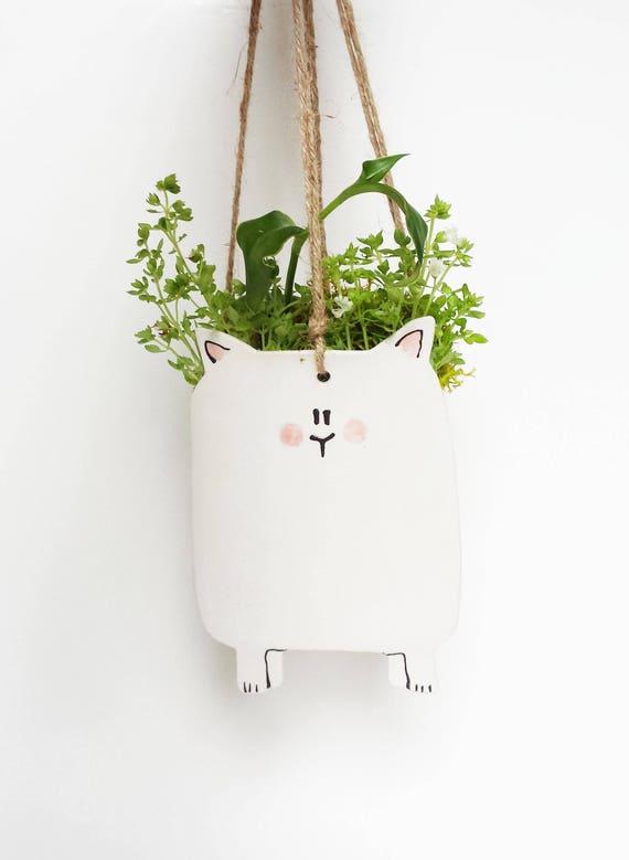 petite jardini re suspendue chat petit cache pot suspendu. Black Bedroom Furniture Sets. Home Design Ideas