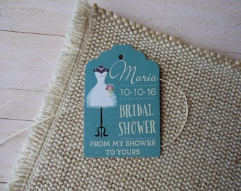 Bridal Shower Tags, Bridal Tags, Personalized Bridal Shower Tags. Custom Bridal Tags. Set of 25 to 300 pieces