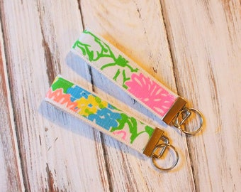 Hibiscus Stroll Lilly Pulitzer Key fob, key ring
