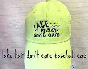 Lake Hair Don't Care Baseball Cap - Baseball Hat
