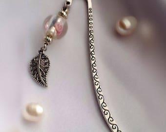 Silver bead bookmark