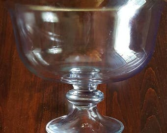 Crystal Pedestal Bowl ~ Gold Trimmed