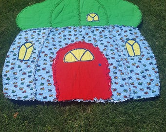 Acorn House Rag Quilt