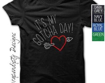 Gotcha Day Shirt - Kids Adoption Tshirt / Its My Gotcha Day Tee / Toddler Adoption Clothing / Day of Adoption Celebration / Adoption Clothes