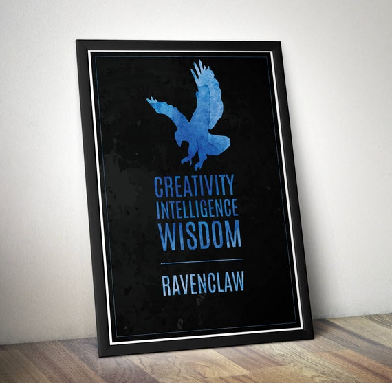 Harry Potter Inspired Minimal Art Poster - Ravenclaw minimalist typography poster