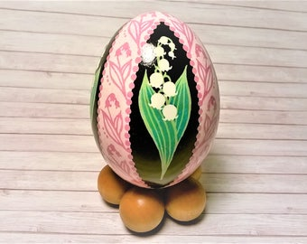 Lily of the Valley, Lily ornament, Pysanky Ornament, Pysanky, Ukrainian eggs, Lily of the Valley Pysanky, Pysanky eggs, May birth flower