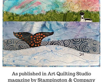 Whale Tail Quilt PAPER PATTERN / Quilting Patterns / Quilt Pattern / Fat Quarter Quilt Patterns / Art Quilt Patterns / Gifts for Quilters