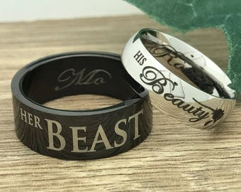 His Beauty Her Beast Etsy