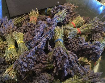 10 Provence bunches, very small bunches, great for crafts,georgous dark purple color, smells fabulous!!Great for a girls birthday party!