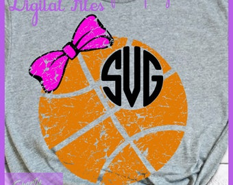 Basketball Mom SVG - Basketball Monogram SVG - Basketball Shirt - Personalized Gift - Coaches Gift - Basketball SVG, Team png, Silhouette