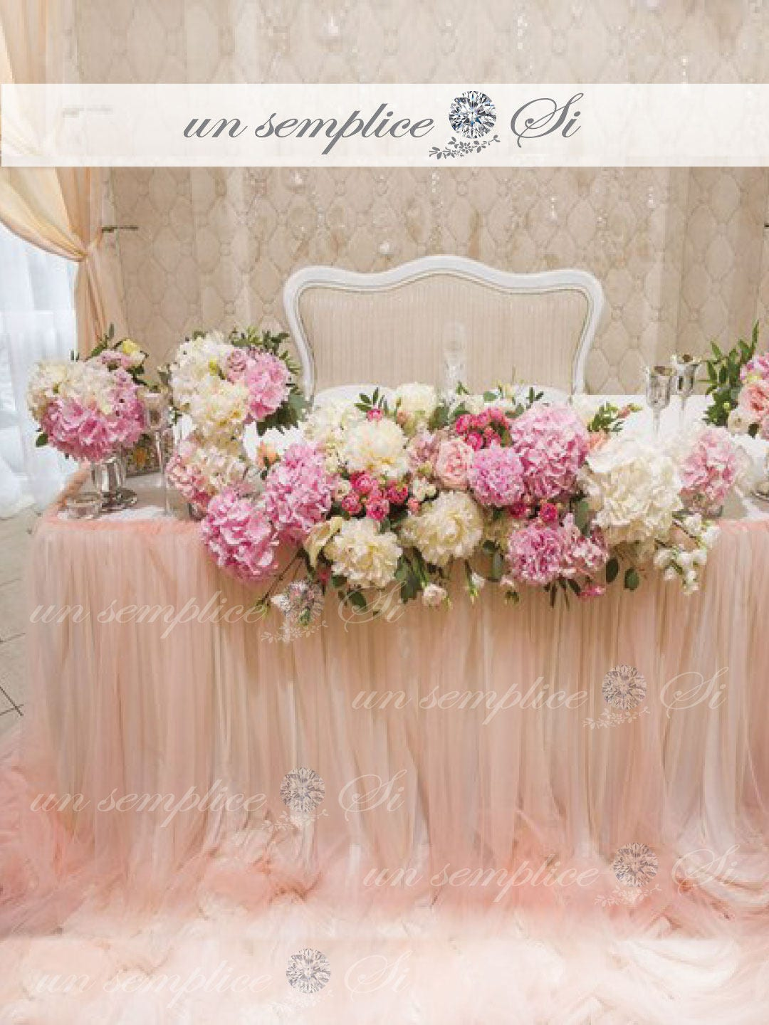 Two Tone Tulle Chiffon Table Skirt 57 Length Extra