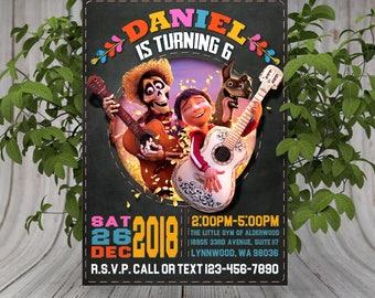 Coco Invitation, Coco Invite, Coco Birthday Invitations, Printable Disney Coco Invitation, Disney Coco Invitation, Coco theme, Coco party