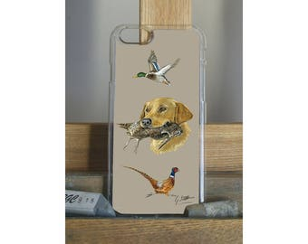 Golden Labrador With Grouse Pheasant Mallard Duck Hunting Themed Phone Case Apple Samsung