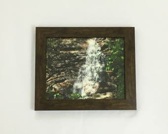 Waterfall Print, Nature Photography, Woods Wall Art, 8x10 Print, 11x14 Print, 16x20 Print, Nature Print, Housewarming Gift, Green Vines