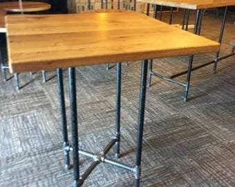 FREE SHIPPING! Pub Style Industrial Table For Resteraunt, Home Or Bar