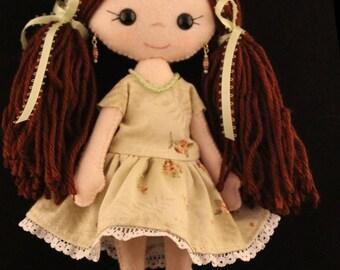 Felt doll Gingermelon doll