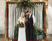Large Macrame Yarn Hanging Wedding Backdrop